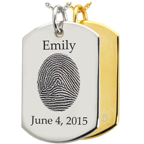 Fingerprint Dog Tag Pendant Cremation Jewelry-Jewelry-New Memorials-Afterlife Essentials