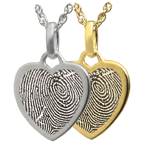Petite Heart Fingerprint Cremation Jewelry-Jewelry-New Memorials-Afterlife Essentials