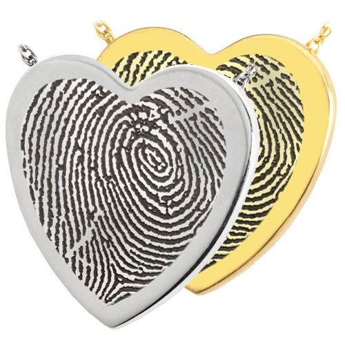 Heart Fingerprint Pendant Cremation Jewelry-Jewelry-New Memorials-Afterlife Essentials