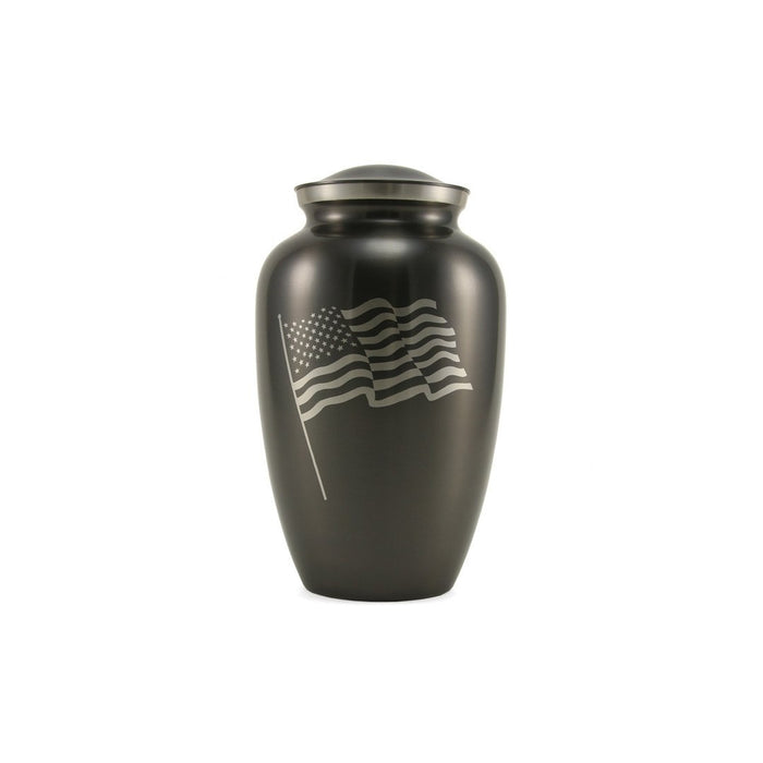 Classic Flag Slate Large/Adult Cremation Urn-Cremation Urns-Terrybear-Afterlife Essentials