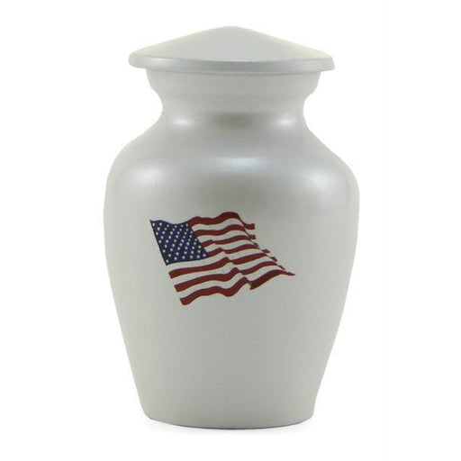 Classic Flag Color Individual Keepsake with velvet bag Cremation Urn-Cremation Urns-Terrybear-Afterlife Essentials