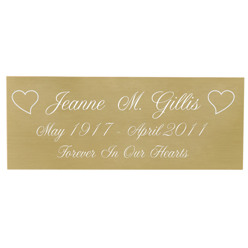 Engraved Memorial Plaque-brass finish-Plaques-New Memorials-Afterlife Essentials