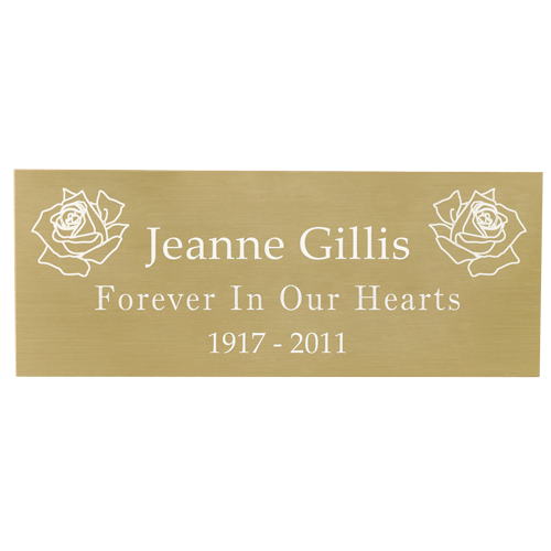 "Engraved Memorial Plaque-brass finish-Plaques-New Memorials-Small Size( 2.5"" W x 1"" H)-Afterlife Essentials"