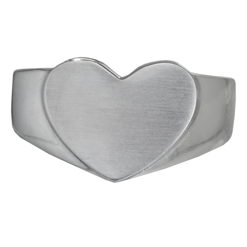 Stainless Steel Bold Heart Ring Cremation Jewelry-Jewelry-New Memorials-Afterlife Essentials