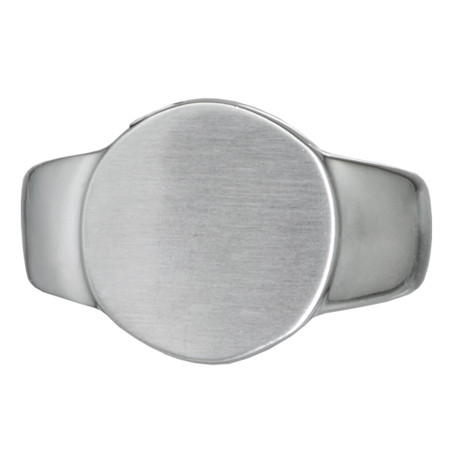 Premium Stainless Steel Round Ring Cremation Jewelry - Afterlife Essentials
