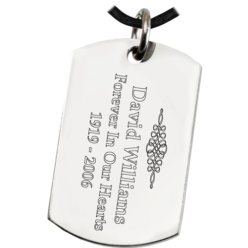 Large Stainless Steel Dog Tag Footprint Fingerprint Memorial Key Ring - Afterlife Essentials