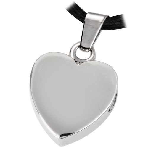 Stainless Steel Remembrance Heart Pendant Cremation Jewelry-Jewelry-New Memorials-Afterlife Essentials