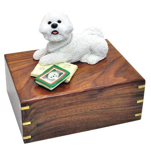 Bichon Frise Pet Wood Cremation Urn-Cremation Urns-New Memorials-Afterlife Essentials