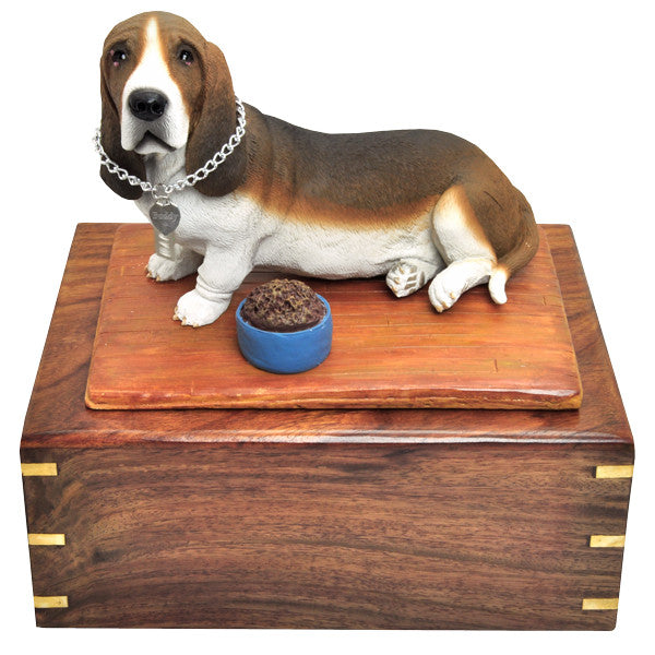 Basset Hound Pet Wood Cremation Urn-Cremation Urns-New Memorials-Afterlife Essentials