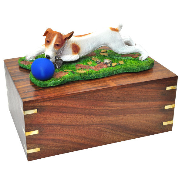 Jack Russell Terrier Ball Brown And White Pet Wood