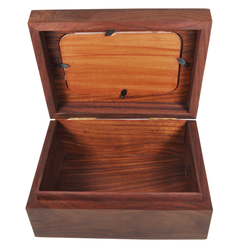 Memory Chest Wood Box With Photo Window Cat Pet 80 cu in Cremation Urn-Cremation Urns-New Memorials-Afterlife Essentials