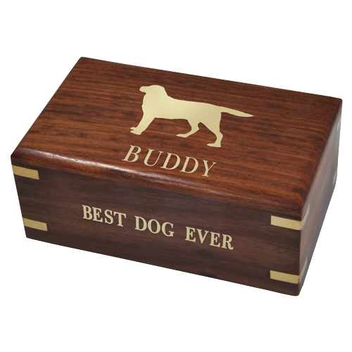 Perfect Simple Wood Box Dog 10 cu in Cremation Urn-Cremation Urns-New Memorials-Afterlife Essentials