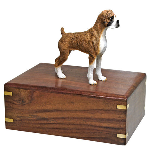 Boxer Brindle Pet Wood Cremation Urn-Cremation Urns-New Memorials-Afterlife Essentials