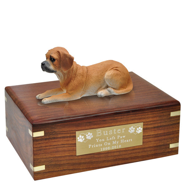Puggle Pet Wood Cremation Urn-Cremation Urns-New Memorials-Afterlife Essentials