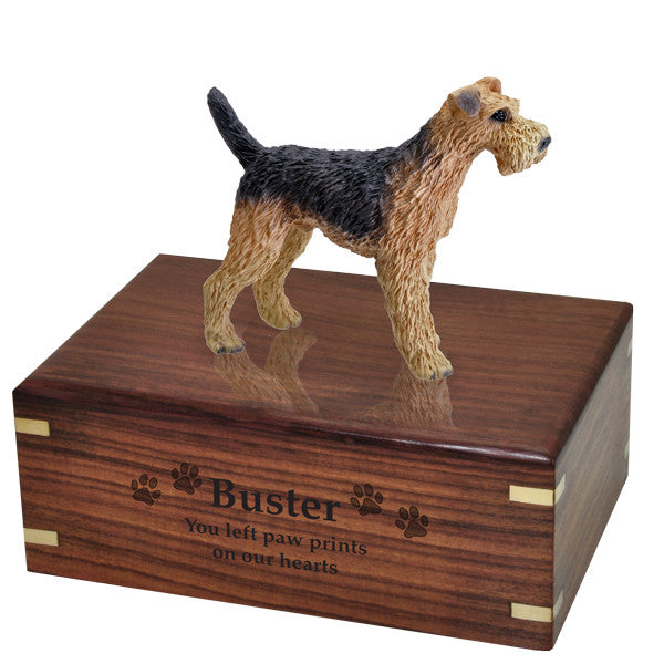 Airedale Pet Wood Cremation Urn-Cremation Urns-New Memorials-Afterlife Essentials