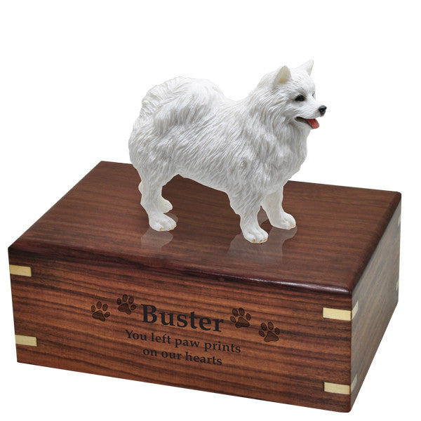 American Eskimo Pet Wood Cremation Urn-Cremation Urns-New Memorials-Afterlife Essentials