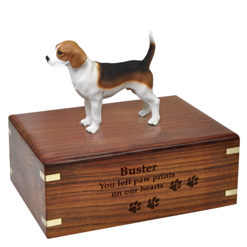 Beagle Pet Wood Cremation Urn-Cremation Urns-New Memorials-Afterlife Essentials