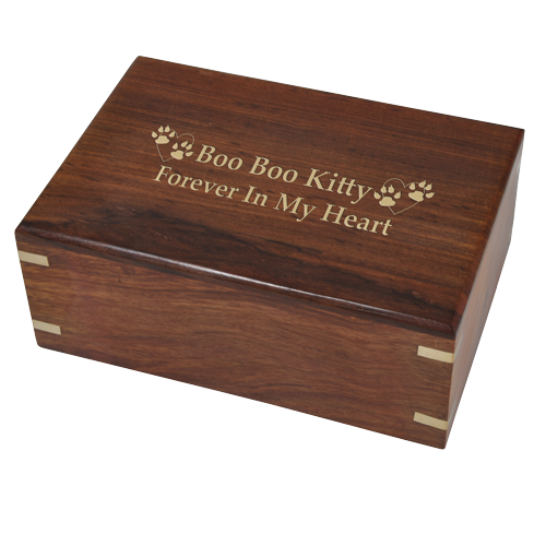 Perfect Simple Wood Box Cat 38 cu in Cremation Urn-Cremation Urns-New Memorials-Afterlife Essentials