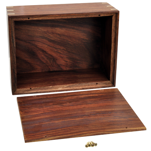 Perfect Simple Wood Box Dog Pet 87 cu in Cremation Urn-Cremation Urns-New Memorials-Afterlife Essentials