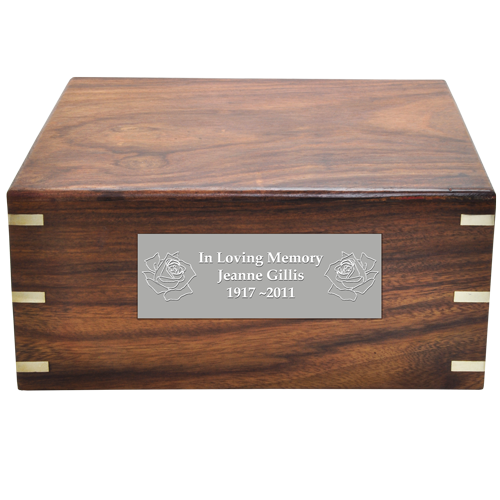 Perfect Simple Wood Box 200 cu in Cremation Urn-Cremation Urns-New Memorials-Afterlife Essentials