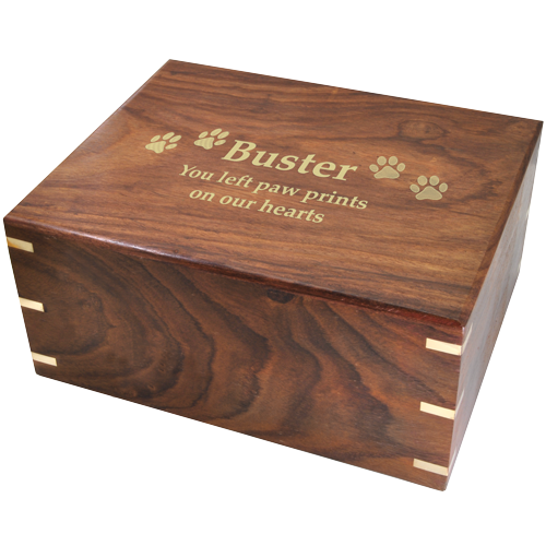 Perfect Simple Wood Box Dog Pet 200 cu in Cremation Urn-Cremation Urns-New Memorials-Afterlife Essentials