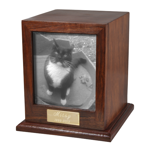 Elegant Photo Wood Cat 50 cu in Cremation Urn-Cremation Urns-New Memorials-Afterlife Essentials