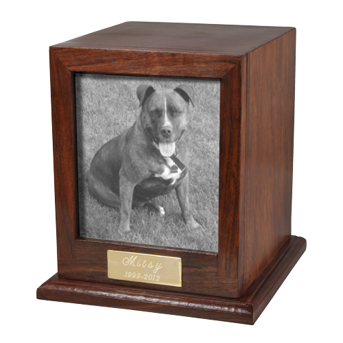 Elegant Photo Wood Dog 50 cu in Cremation Urn-Cremation Urns-New Memorials-Afterlife Essentials