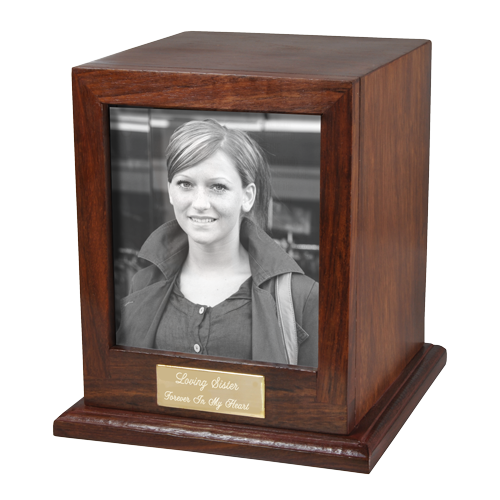 Elegant Photo Wood 50 cu in Cremation Urn-Cremation Urns-New Memorials-Afterlife Essentials