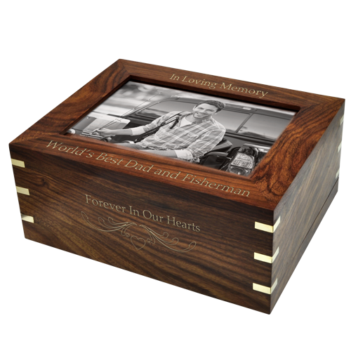 Perfect Framed Photo Wood 160 cu in Cremation Urn-Cremation Urns-New Memorials-Afterlife Essentials