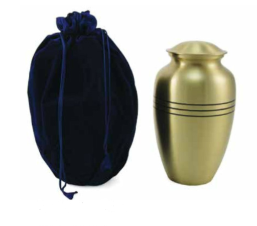 Sapphire Velvet Cremation Urn Bag-Accessory-Terrybear-Afterlife Essentials