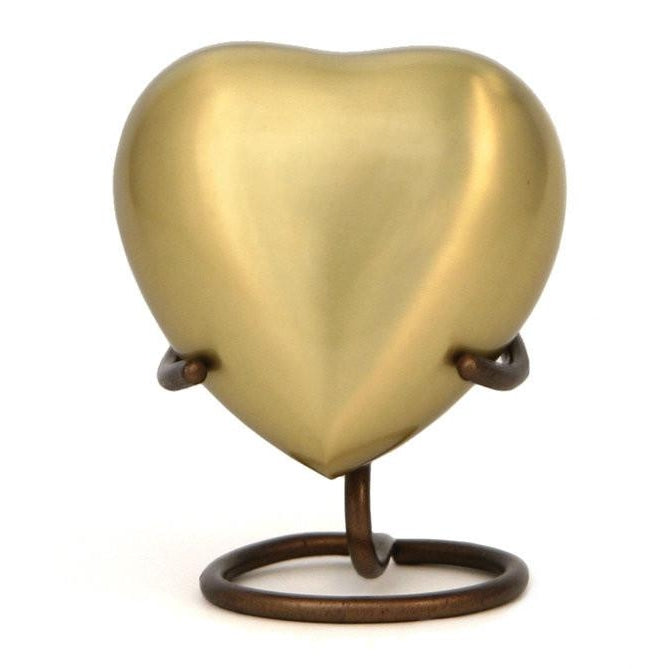 Bronze Heart Keepsake with velvet box Cremation Urn-Cremation Urns-Terrybear-Afterlife Essentials