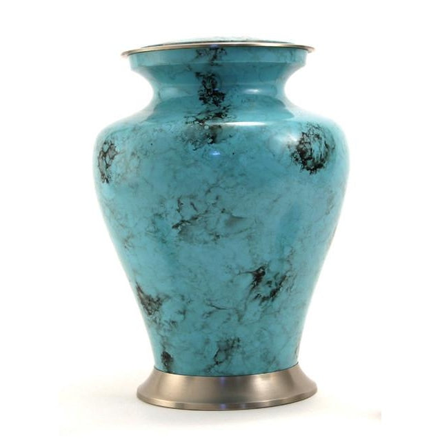 Glenwood Blue Marble Large/Adult Cremation Urn-Cremation Urns-Terrybear-Afterlife Essentials