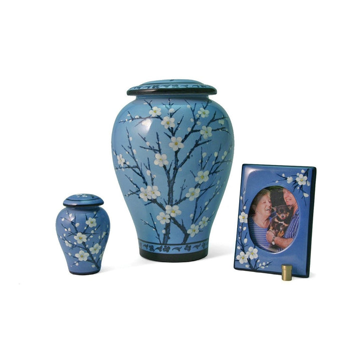 Floral Plum Blossom Large/Adult Cremation Urn-Cremation Urns-Terrybear-Afterlife Essentials