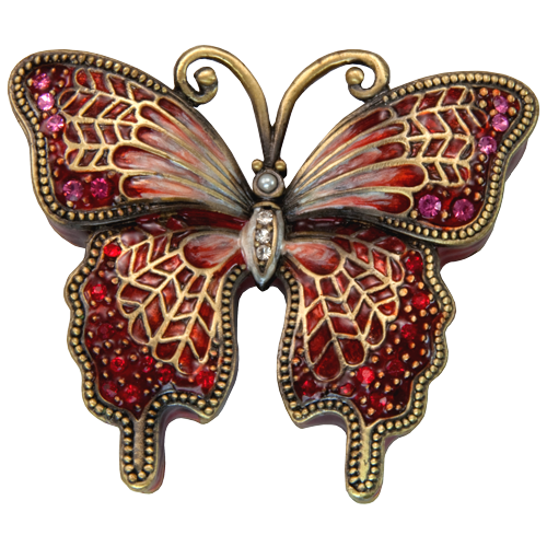 Butterfly Crimson Mini Figurine Cremation Urn Keepsake-Cremation Urns-New Memorials-Afterlife Essentials