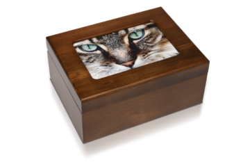 4″ x 6″ Wooden Photo Memory Urn Box – The Willoughby 75-85 cu. in.-Cremation Urns-Bogati-Afterlife Essentials