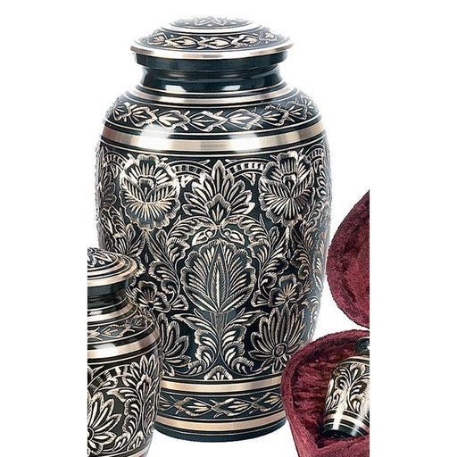 "515/10"" ""Gee Motif"" Engraved Brass Cremation Urn-Cremation Urns-Urns of Distinction-Afterlife Essentials"