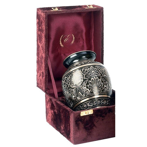 "515/6"" ""Gee Motif"" Engraved Brass Cremation Urn-Cremation Urns-Urns of Distinction-Afterlife Essentials"