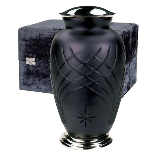 "7000/10"" Art Glass Hand Cut Cremation Urn - Adult/Large-Cremation Urns-Urns of Distinction-Afterlife Essentials"