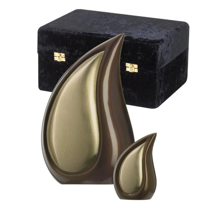 "830/10"" Teardrop Bronze Tone Cremation Urn-Cremation Urns-Urns of Distinction-Afterlife Essentials"