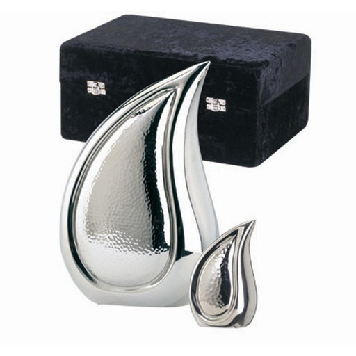 "820/10"" Teardrop Bright Silver Cremation Urn-Cremation Urns-Urns of Distinction-Afterlife Essentials"