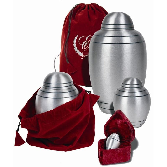 "625/3"" Brushed Alloy Metal Cremation Urn-Cremation Urns-Urns of Distinction-Afterlife Essentials"