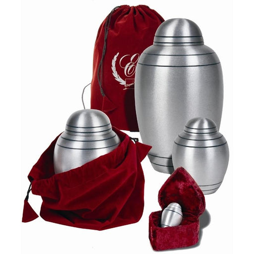 "625/10"" Brushed Alloy Metal Cremation Urn-Cremation Urns-Urns of Distinction-Afterlife Essentials"