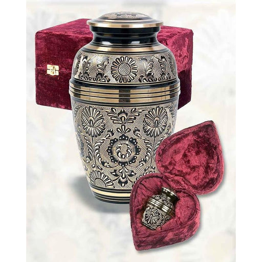 "378/10"" Eternal Ring Black/Gold Cremation Urn-Cremation Urns-Urns of Distinction-Afterlife Essentials"