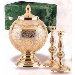 209 Brass Memorial Cremation Urn Set-Cremation Urns-Urns of Distinction-Afterlife Essentials