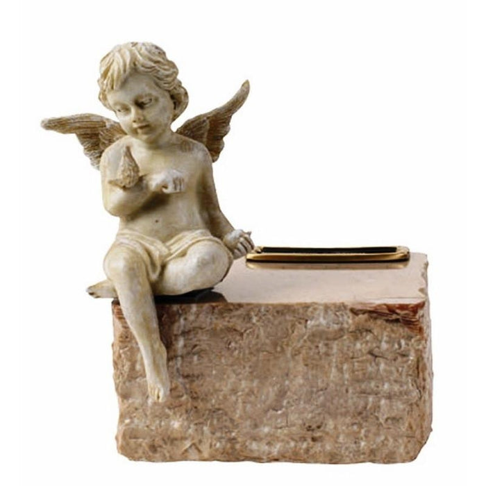 727 Angel Cremation Urn for Infant on Cream Marble-Cremation Urns-Urns of Distinction-Afterlife Essentials