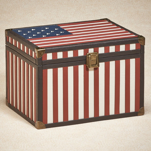 Large Americana Memory Box Simulated Leather Cremation Urn-Cremation Urns-Infinity Urns-Afterlife Essentials