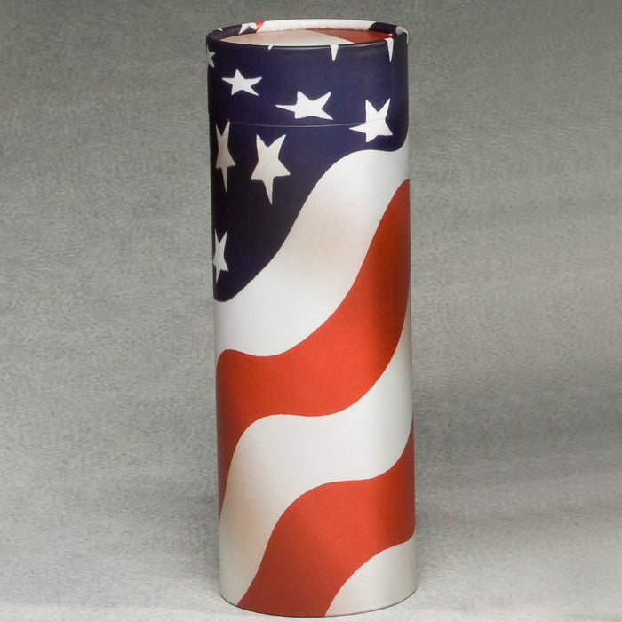 Scattering Tube Series American Flag 200 cu in Cremation Urn-Cremation Urns-Infinity Urns-Afterlife Essentials