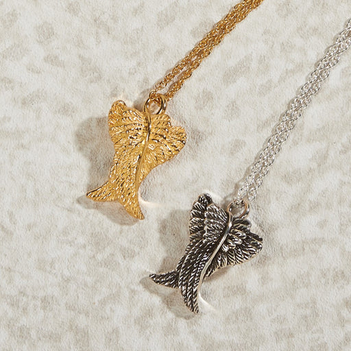 Angels Wings Pendant Cremation Jewelry-Jewelry-Infinity Urns-Sterling Silver-Afterlife Essentials