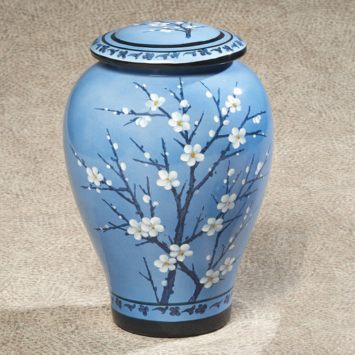 Apple Blossom Ceramic 200 cu in Cremation Urn-Cremation Urns-Infinity Urns-Afterlife Essentials