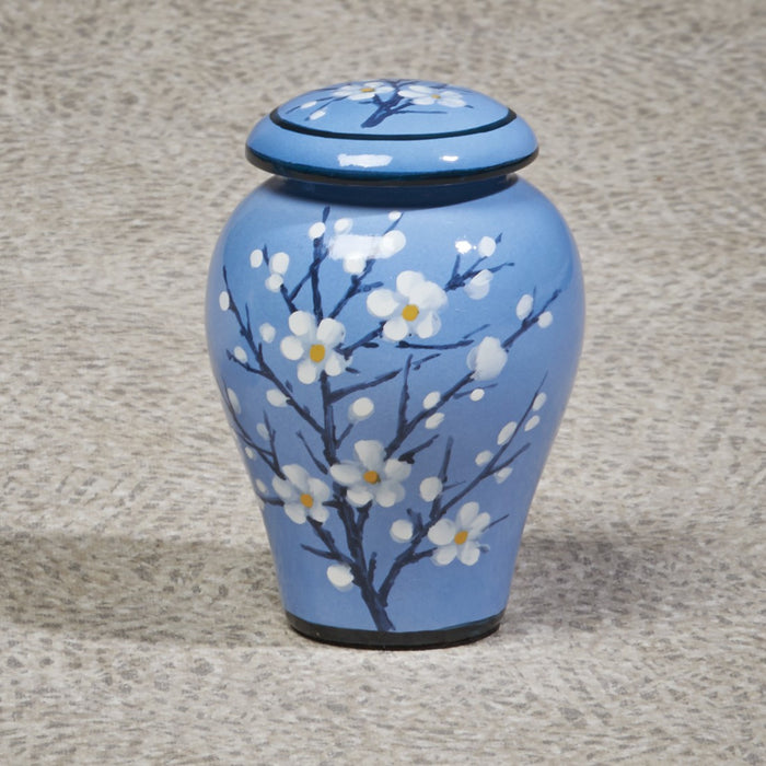 Apple Blossom Ceramic Mini 10 cu in Cremation Urn-Cremation Urns-Infinity Urns-Afterlife Essentials